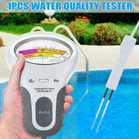 Portable Digital 2 In 1 Water Quality PH and Chlorine Level CL2 Tester Meter for Swimming Pool Spa Water Quality Analyze