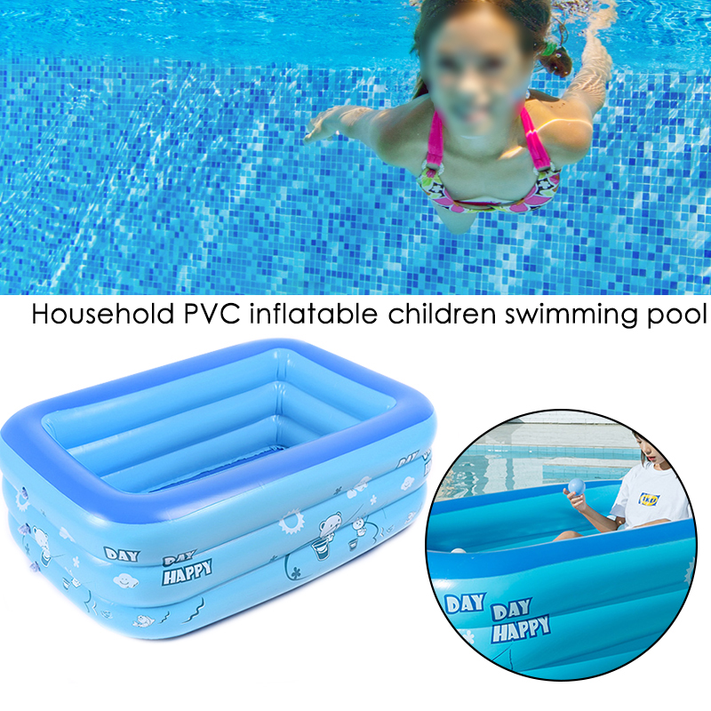 120x90x50cm Children Bathing Tub Baby Home Use Paddling Pool Inflatable Square Swimming Pool Kids Inflatable Pool Freeshipping