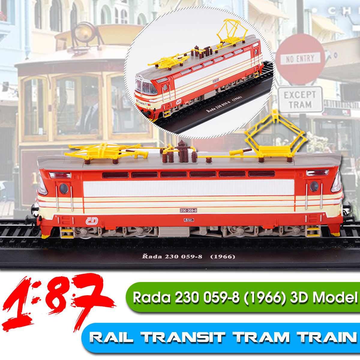 1/87 Collection Classic Train Bus Diecast Trolley Model Cars Toy Vehicle Alloy Casting Tour Tram Car Toys