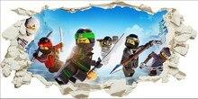 New 3DVIEW Wall Hole Stickers Lego Phantom Ninja For Kids Room Boys room accessories Mural Art Decal Home Decor