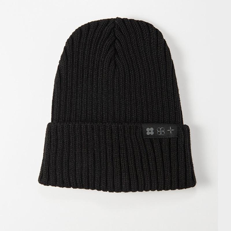 Kpop Bangtan Boys TOUR JK Same Knitted Caps Hat Embroidery Top Quality Elastic Autumn Winter Black Beanie Hat Cap Black