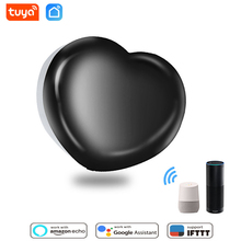 Tuya Smart Life IR Remote Control WiFi IR 2.4Ghz Infrared Illuminated Heart Timing Voice Control Compatible with Alexa Google As