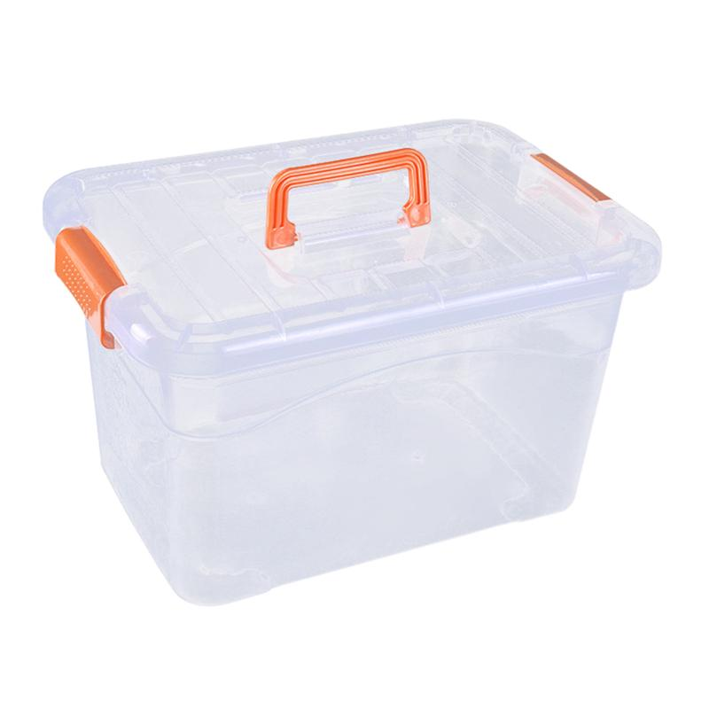 Plastic Storage Case Portable Transparent Clothes Storage Box Plastic Toy Container with Cover Random Color|Storage Boxes & Bins| |  - title=