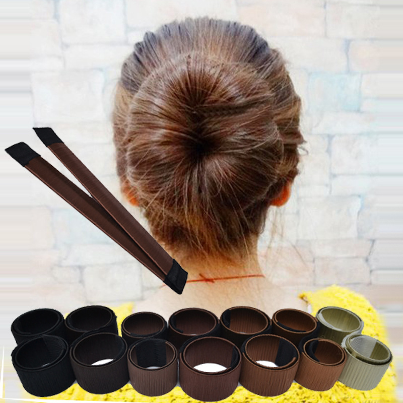 1 PC Magic Hair Styling Braider Synthetic Wig Hair Donut Girls Women French Twist DIY Hairbands Bun Maker Hair Accessories