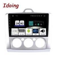 """Idoing 9 """"2.5D 4G + 64G 8 Core Auto Multimedia KEINE 2 Din Radio-Player GPS Navigation android 9.0 Kopf Einheit ForFord Focus 2 3 Mk2/Mk3"""
