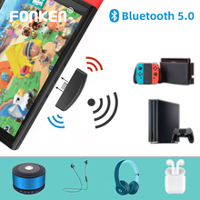 Adaptador Bluetooth 5,0 de tipo C para Nintendo Switch/Lite, Ps4, Ps3, Pc, emisor de Audio Bluetooth, transmisor Usb C con micrófono