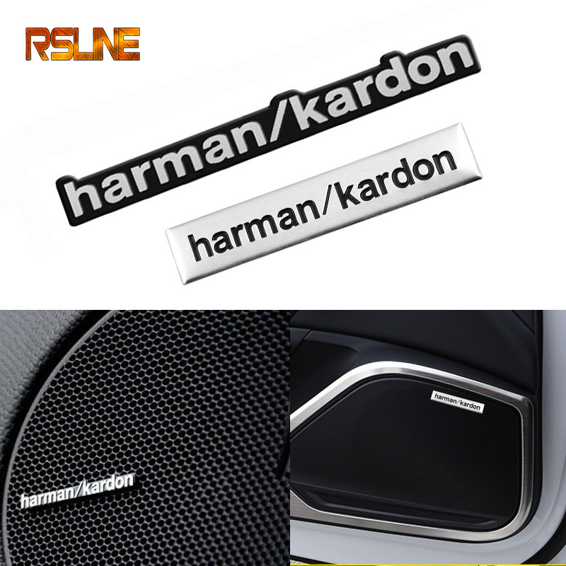 1pcs harman kardon car audio decorate Car <font><b>sticker</b></font> styling For <font><b>bmw</b></font> e46 e90 <font><b>f20</b></font> e60 e39 e36 f10 X1 X3 X4 X5 X6 X7 Car accessories image