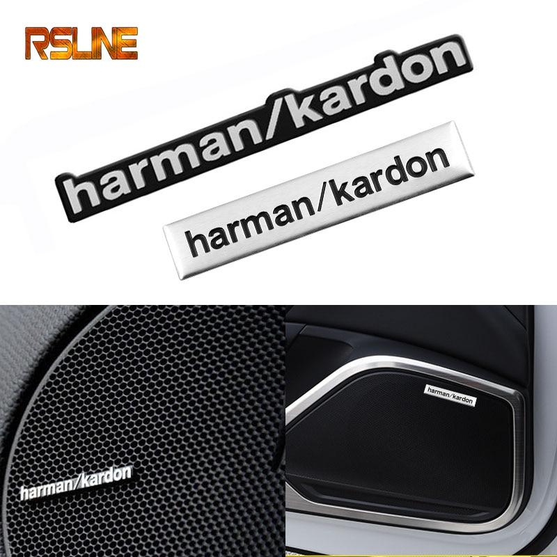 1pcs Harman Kardon Car Audio Decorate Car Sticker Styling For Bmw E46 E90 F20 E60 E39 E36 F10 X1 X3 X4 X5 X6 X7 Car Accessories