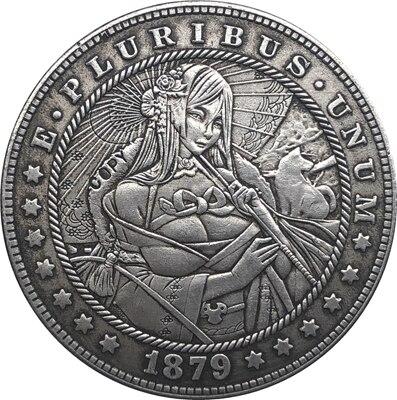 Хобо никель 1879 монета доллара США Моргана копия Тип 146