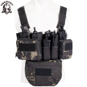CS Match Wargame TCM Chest Rig Airsoft Tactical Vest Military Gear Pack Magazine Pouch Holster Molle System Waist Men Nylon Swat - discount item  30% OFF Hunting