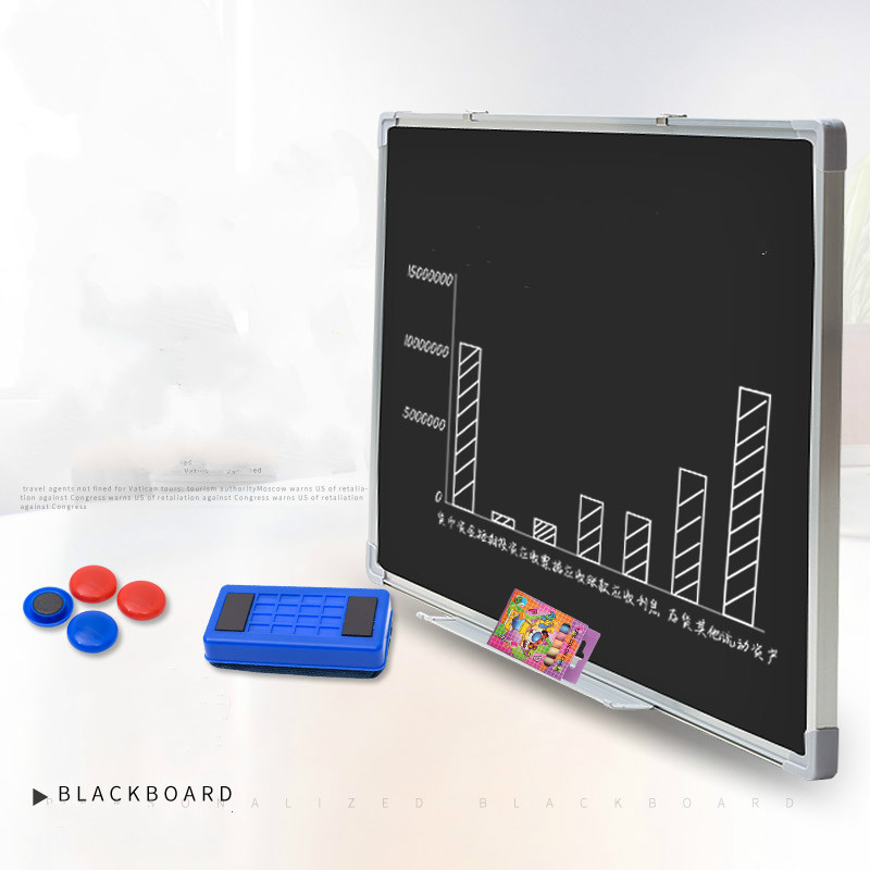 Blackboard Hanging Magnetic Chalk Writing Creative Writing Children's Graffiti Drawing Blackboard Message Book School Board