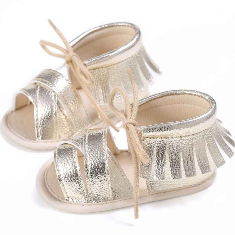 Fashion Newborn Baby Girls Sandals Cute Princess Tassel Sandles Kids Toddler Infant Flat Lovey Lace Up Shoes