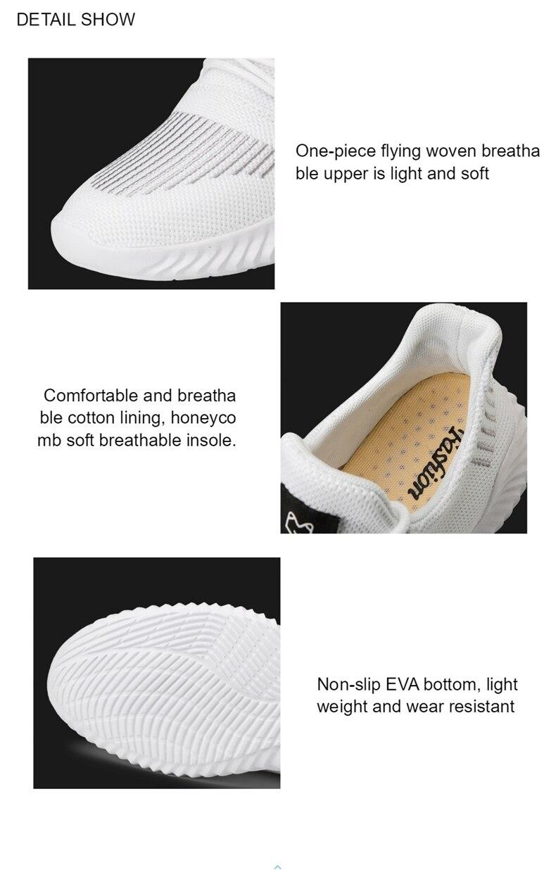 He2196649397f4ad999da71c528f480c1J KJEDGB 2019 New Ultralight Men Casual Shoes Solid Black White Gray Breathable Comfortable Sneakers Big Size 39-47 Male Shoes