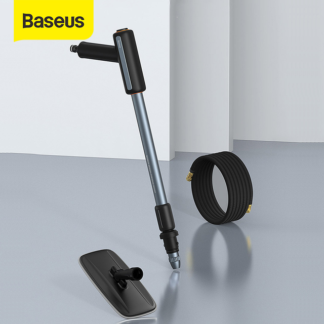 Baseusポータブル高圧水銃洗車機スプレーノズル洗車ツール2 1で洗浄 & スクラブ洗濯車のためのツール