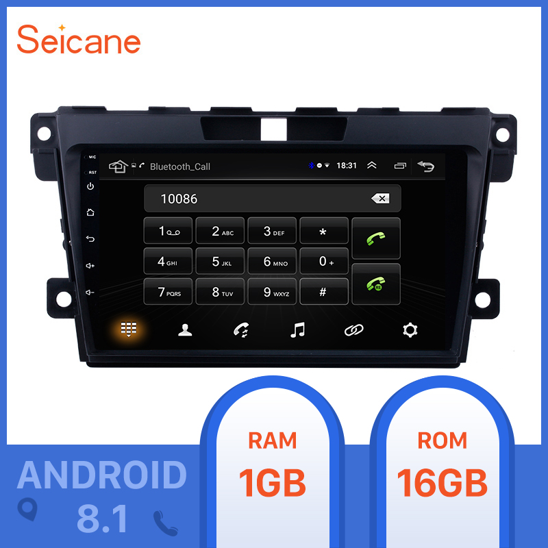 Seicane <font><b>2Din</b></font> 9inch Android 8.1 Car Radio For <font><b>MAZDA</b></font> <font><b>CX</b></font>-<font><b>7</b></font> 2007 2008 2009 2010 2011 2012-2014 GPS <font><b>2din</b></font> Multimedia Player Head Unit image