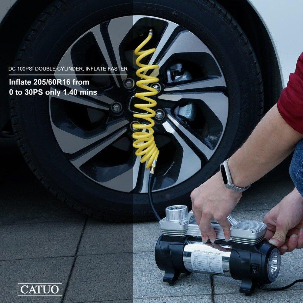 Portátil Tire Inflator Compressor de Ar Duplo
