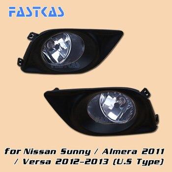 12v 55W Car Fog Light Assembly for Nissan Sunny/ Almera 2011 / Versa 2012 2013 Front Fog Light Lamp with Harness Relay Fog Light