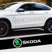 2x adesivos de vinil corpo do carro pára brisa lateral decoração emblema decalque para skoda octavia rápida fabia superb karop kamiq kodiaq