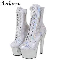 Python-Boots Pole Stripper-Heels Drag-Queen Exotic Sorbern Dancer Custom-Color Women