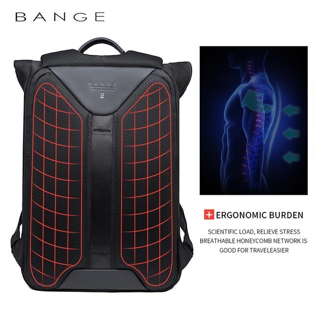 BANGE Men Business Backpack High capacity Waterproof Travel Backpack 15.6'Laptop Backpack School Bag Office Men Backpack 3