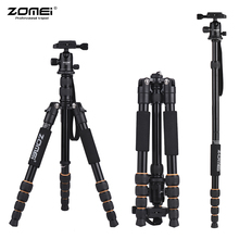 ZOMEI Q100 Q111 Q555 Q666 Q666C מצלמה חצובה נסיעות נייד מצלמה חצובה עבור Canon Nikon Sony DSLR מקצועי מצלמה חצובה