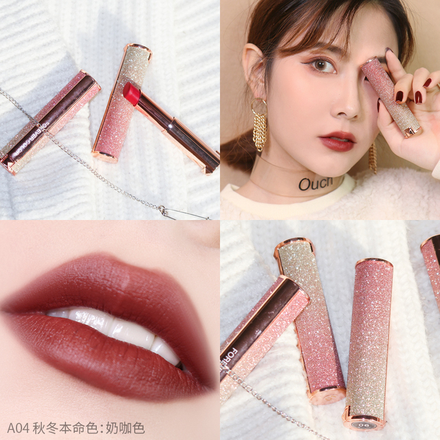 Starry Sky Lipstick Waterproof Velvet Lip Stick 10 colors Sexy Nude Matte Makeup Cosmetics 3
