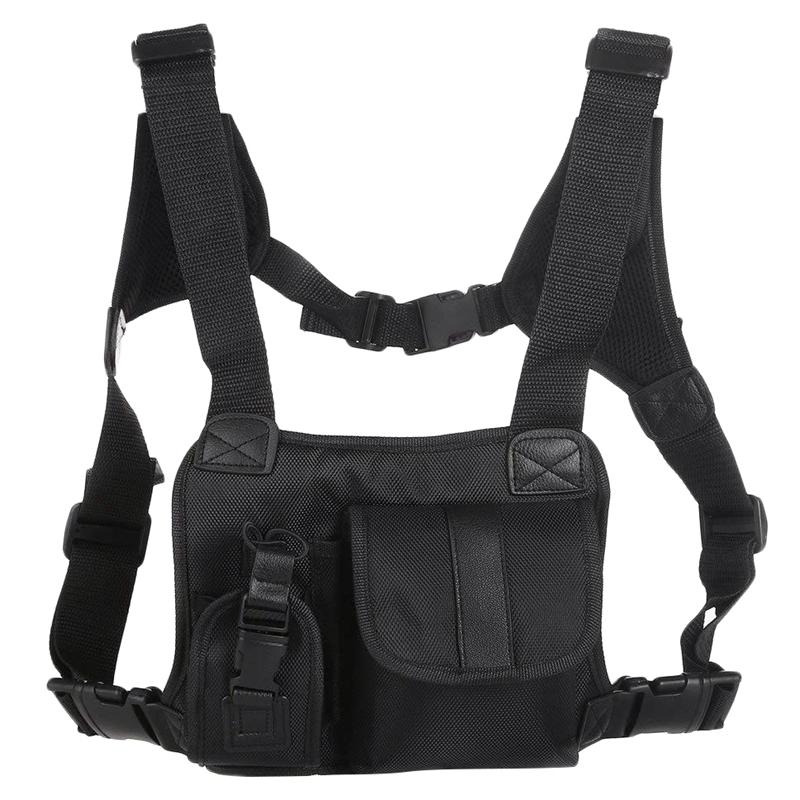 ABKT-Street Style Chest Rig Bag Hip Hop Chest Bag For Men Functional Waist Packs Adjustable Waistcoat