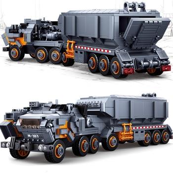 832Pcs Wandering Earth Transport Truck Carrier Vehicle Car Sets Model Building Blocks Sets City Technic Playmobil Kids Toys