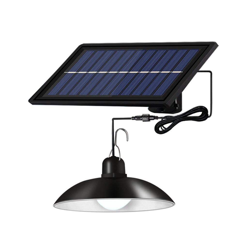 Boruit solar luz pingente ao ar livre lustre ip65 à prova dwaterproof água indoor cronometragem lâmpada solar com linha adequada para jardim pátio