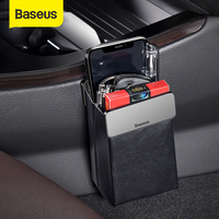 Baseus Magic Car Storage Rack Bag Leather Car Phone Holder Auto Organizer Hanging Pouch Box Car Styling Interior Accessories|Stowing Tidying|   -