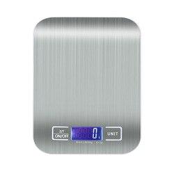 Balance alimentaire numérique en acier inoxydable balance de cuisine numérique 10kg/5kg balances alimentaires de précision poids numérique grammes et Oz, Ml,Lboz