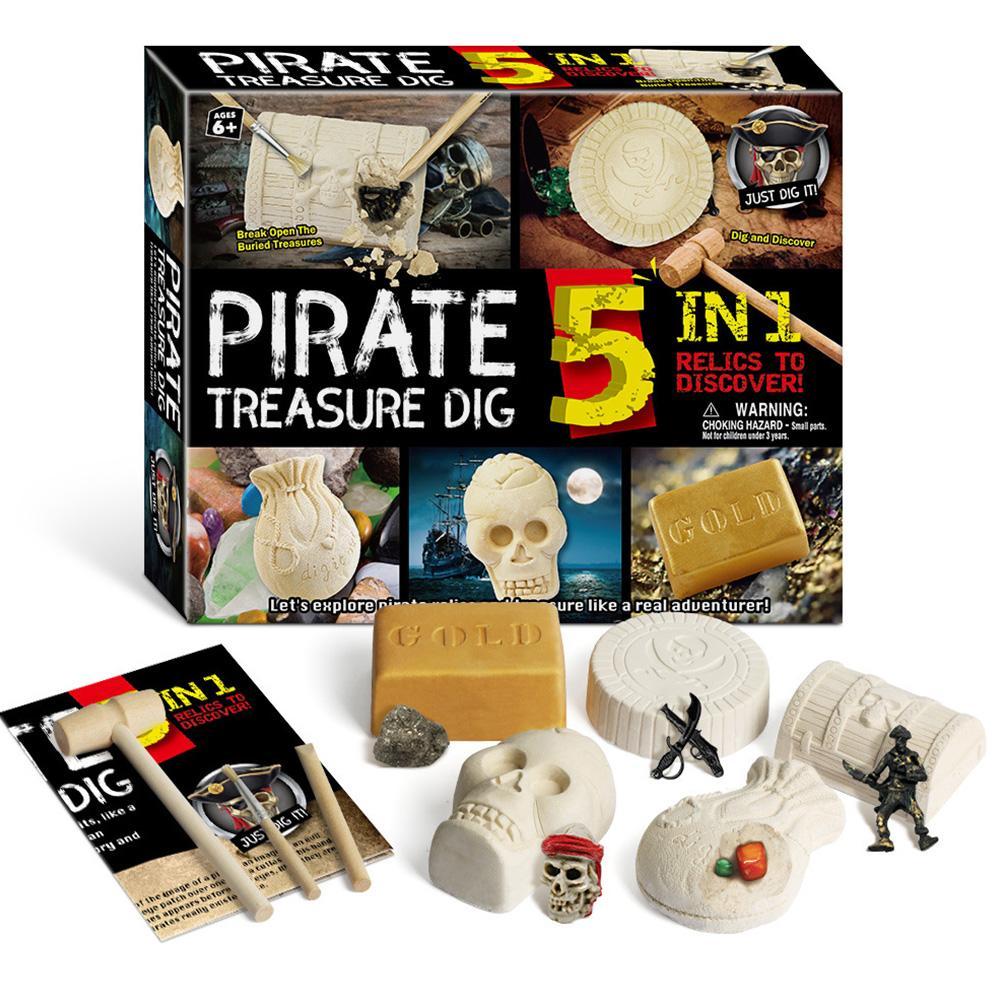 Brinquedos de escavação arqueológicos para crianças, modelo