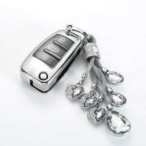 Image 3 - Auto Auto Styling Weiche TPU Schlüssel Fall Für Audi A1 A3 A4 A5 Q7 A6 C5 C6 Auto Halter Shell fernbedienung Abdeckung Auto Styling keychain