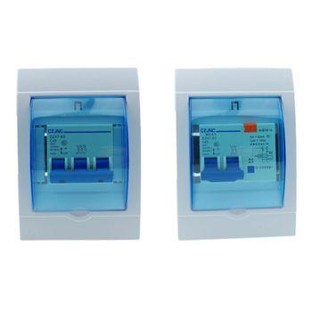 Caja de distribución eléctrica de plástico resistente al agua, caja protectora para interruptor de Casa de 2-3/3-4 vías, montado en la pared 1