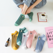 Cute Cartoon Socks Fruit Print Stripe Avocado Banana Lemon Peach Girls Kawaii meias Korean Pink Funny Socks Harajuku Cotton cute cartoon fruit print avocado banana cherry peach girls kawaii socks meias korean harajuku breathable pile heap funny socks