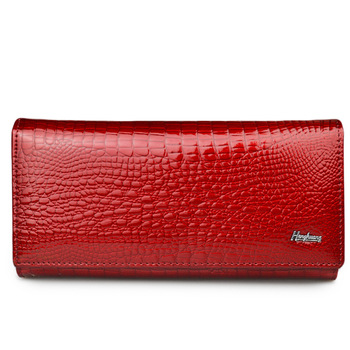HH Women Wallets Genuine Leather Wallet Luxury Female Hasp Alligator purse Long Coin Purses ID Card Holders Ladies Cluth Bags