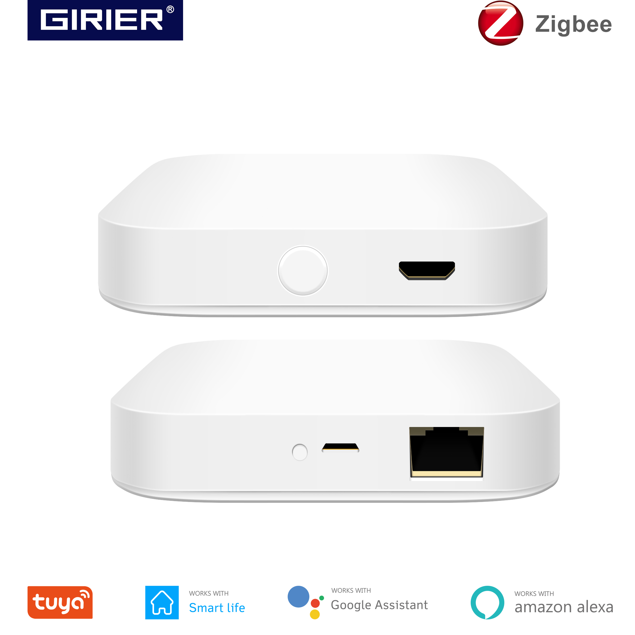 Tuya zigbee 3.0 hub inteligente, sem fio/com fio ponte gateway para app controle remoto de voz, funciona com alexa google assistente de casa