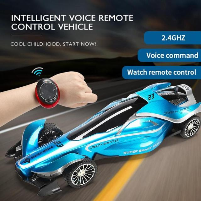 2020 New 2.4G Intelligent Speech RC Car Voice Watch Remote Control Off-road Racing Car High Speed Drift Vehicle Toy Gift for Boy 3
