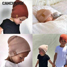 Fashion Brand Winter Beanies For Baby Kids Winter Hats Boys Girls Skullies Beanies Children Knitted Elastic Gift Accessories