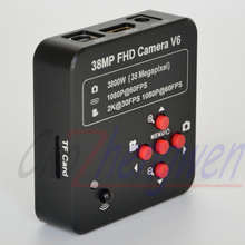FYSCOPE  38MP HDMI 60SPF NEW BLACK MICROSCOPE 3.5X-90X Simul-Focal Trinocular Zoom Stereo Microscope Head +144LED