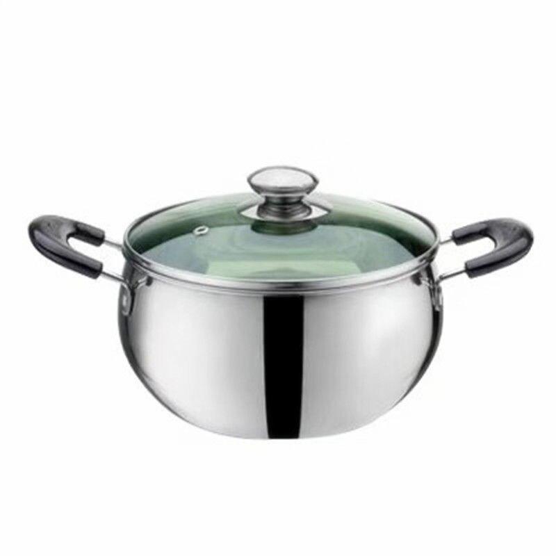Baby Food Supplement Pot Household Soup Pot Milk Pot Porridge Cooking Noodles Stainless Steel Thick Non-stick Cooker Gas Stove