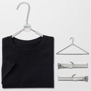 Портативная складная вешалка из алюминиевого сплава, вешалка для одежды для путешествий, бытовая портативная и удобная стойка для хранения