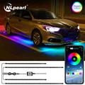 NLpearl RGB Auto Underglow Licht Remote/APP Control Flexible LED Streifen Auto LED Neon Unterboden Licht Atmosphäre Dekorative Lampe