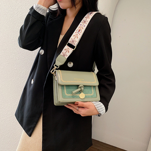 Image 4 - Contrast color Leather Crossbody Bags For Women 2020 Travel Handbag Fashion Simple Shoulder Messenger Bag Ladies Cross Body Bag
