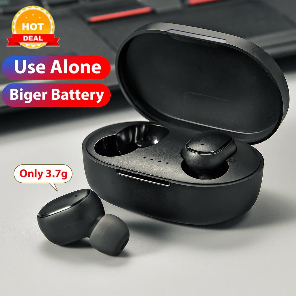 In-Ear True <font><b>Wireless</b></font> Stereo Earbuds <font><b>Wireless</b></font> Earphone Voice control Bluetooth 5.0 Bass Headsets Noise reduction Earplug image