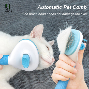 Dog Hair Removal Comb Grooming Cats Comb Pet Products Cat Flea Comb Pet Comb for Dogs Grooming Toll Automatic Hair Brush Trimmer pet comb cleaning tool lice brush pet supplies cat dog comb hair fur removal brush flea comb dogs cats pet grooming fine toothed