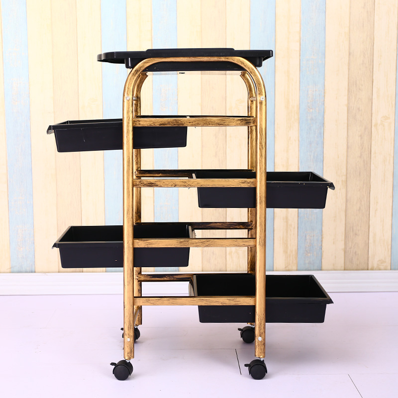 Hairdressing Cart Hair Salon Stroller Hairdressing Tool Car Beauty Cart Barber Shop Stroller Hairdressing Bar