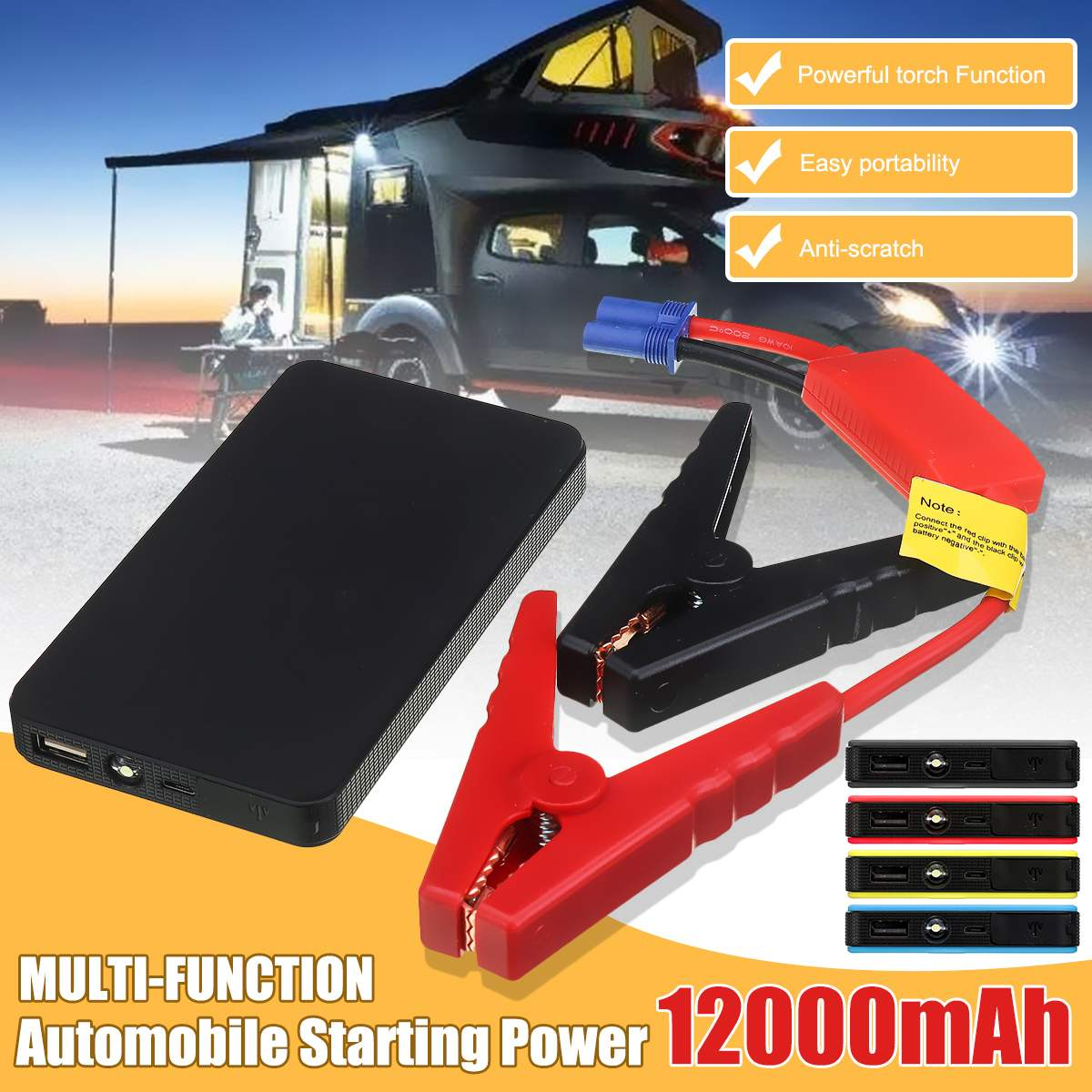 12V 12000Mah Car Jump StarterรถแบบพกพาStarter Power Bank Autoแบตเตอรี่ฉุกเฉินPower Bank Boosterแบตเตอรี่