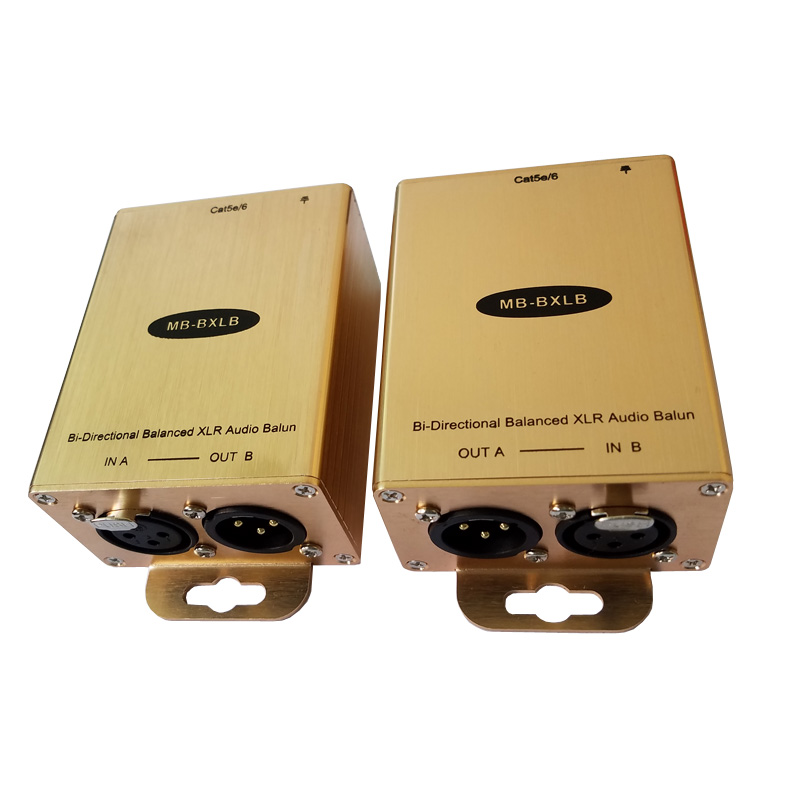 Pro Audio To RJ45 Adapter Balanced Audio Over Cat5/6 Converter XLR Audio Extender(one Pair)