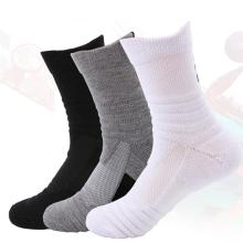 Спортивные мужские гольфы для занятий спортом на открытом воздухе, непрозрачные носки с ворсом, впитывающие пот, нескользящие носки для баскетбола, бадминтона, бега